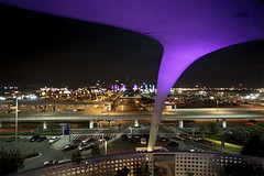 encounter with LAX (Orrin) Tags: longexposure architecture night restaurant lenstagged airport purple topv999 violet wideangle lax googie 1022mm encounter spaceage canonefs1022mmf3545usm tccomp147
