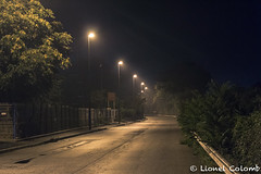 In the heart of the night (Lionelcolomb) Tags: lapennesurhuveaune provencealpescôtedazur france fr light night road rain ligne line perspective canon canon1200d sigma
