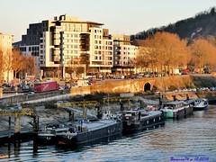 Les péniches , Rouen rive droite (Barnie76@ ,) Tags: rouenseine rouen péniche bateaux paysage quais seinemaritime normandie