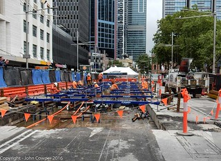 CBD & South East Light Rail - George Street, outside Town Hall - Update 15 December 2016