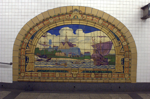 Marine Grill Murals (2/6), Broadway-Nassau Subway Station