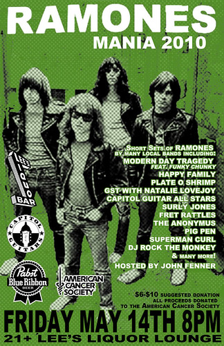 05/14/10 Ramones Mania 2010 @ Minneapolis, MN (Flyer)