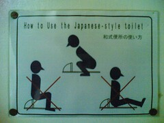 how to use the japanese-style toilet