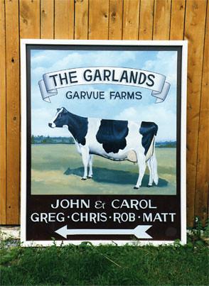 Cow Farm Sign