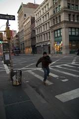 wrong way (Runs With Scissors) Tags: day2 subway mta crosswalk twu transitstrike newyorkcitysubway broadwaybroome almost28mm