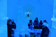 the temporary ice bar and the end of the main corridor (shlice at icehotel) Tags: icehotel icebar