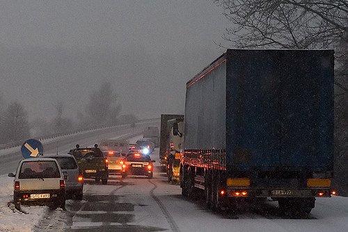 iarna in trafic