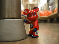 Acid Qee riding the Subway (Drew from the Slope) Tags: toys design kidrobot urbanvinyl qee