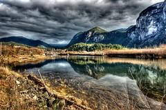 Squamish River Estuary(2) (Alpine Climber) Tags: squamish bc britishcolumbia canada thechief rockclimbingarea granitemonolith water squamishriverestuary 3imagesalignedandcombined convertedtohdr hdr tonemapped postprocessed wow interestingness 500plus20 interestingness1 most