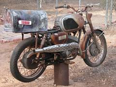 motorcycle mailbox (-mrh) Tags: mailbox 1966 motorcycle yamaha yds3