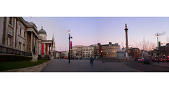 Trafalgar Square Panorama (forlornturtle) Tags: panorama london trafalgarsquare nationalgallery christmasday2005 thelondonchain