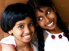 Riya and Roja (whitshowchris) Tags: india canon d20 children kerala