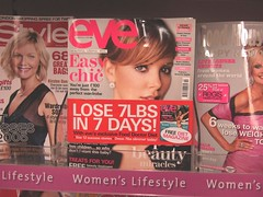 Interesting how many womens magazines are obsessed with weight - heres one. (Image credit jaimelondonboys photostream.))