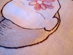 Golden hair (Annika Sandin) Tags: annika sandin embroidery textile