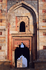 An Ancient View (Farhiz) Tags: india heritage monument ancient exterior delhi faith arches handheld carvings lodhigardens seenthrough freestudyold ruinantiquity