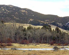 Montana Winter Colors (MaureenShaughnessy) Tags: winter cold ice colors river fire montana 2006 boulder thebigsky idyll mutedcolors pilgrimage newyearsday muted offerings mutedcolor coldseason seasonalcolor firstdayof2006 welcomingthenewyearourway newwestnet seasonalrhythmscolorwinter seasonalrhythmswinter