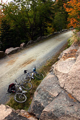 bike protest in acadia (manyfires) Tags: new england landscape cityscapes land acadia