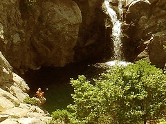 Ikaria 064 (isl_gr (Mnesterophonia)) Tags: mountain freedom waterfall hiking beautyconcealed ikaria  may trails replacement greece gorge fairies camper nas hikingikaria  waterdreams  caria  chalares  wildshots livada  angelolivada geniiloci chercherlafemme angelspool