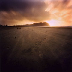 Seaside (Zeb Andrews) Tags: sunset usa color film beach beautiful oregon square landscape seaside amazing pinhole pacificnorthwest zero2000 zeroimage kodak100uc interestingness250 i500 explore4jan2006 bluemooncamera zebandrews zebandrewsphotography