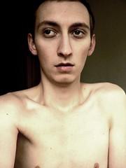 Lo-fi (sjon) Tags: boy selfportrait home me naked top20fav blackbg mytop10favorites
