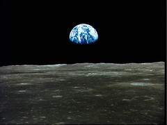 Earthrise from the Moon, taken by Apollo 11 astronauts