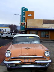 '55 Pontiac (Curtis Gregory Perry) Tags: auto old light signs color colour classic cars abandoned luz glass beautiful car wheel sign electric night truck vintage wonderful drive licht bucket junk automobile gm colorful neon pretty driving glow ride bright lumire wheels transport tube tubes ne retro gas vehicles rig transportation views signage whip electricity vehicle glowing trucks pontiac colourful autos dying popular 75 electrical vanishing deserted luce automobiles prosser muestra important transpo signe sinal junker pos neons beater  zeichen conveyance generalmotors junked non segno     teken  75views    glowed    neonic