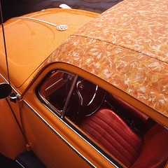 Fire and Rain (eye2eye) Tags: orange wet rain vw bug volkswagen droplets beetle chroma chromaorange chromatag