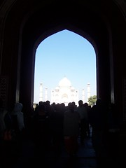 Taj Mahal from Entry Building