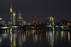 Mainhatten (ToNo's world) Tags: bridge 15fav tower skyline night germany nightshot frankfurt dynax7d mainhatten tono floesserbridge
