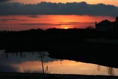 warm winter Sunset (**** j a z z z i ***) Tags: winter sunset shadow sun lake sunrise pond warm january fcsetsrises
