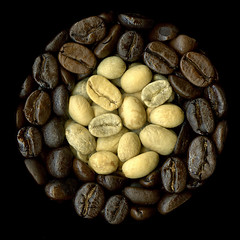 Before and After - Coffee Roasting