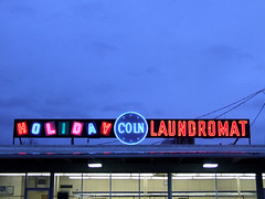 Holiday Coin Laundromat (Curtis Gregory Perry) Tags: old light usa signs west color colour classic luz glass sign electric night america vintage licht us colorful neon pretty glow unitedstates state northwest bright lumire tube tubes ne retro gas beaver american signage western electricity pacificnorthwest americans glowing instructions springfield colourful dying laundromat electrical luce instruction muestra placard important advisory signe sinal neons oregonian  zeichen non segno     teken     glowed    neonic