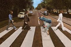iPod Road (tsevis) Tags: road street music streetart art apple abbey rock illustration magazine design dance mac 60s ipod mosaic photomosaic pop mp3 beatles tribute breakdance  revival tsevis charistsevis wwwtseviscom tseviscom