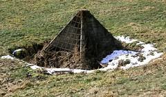 McGregor's Pyramid (Todd Ehlers) Tags: mcgregoriowa pyramid drainage retention basin civilengineering cement iron rods