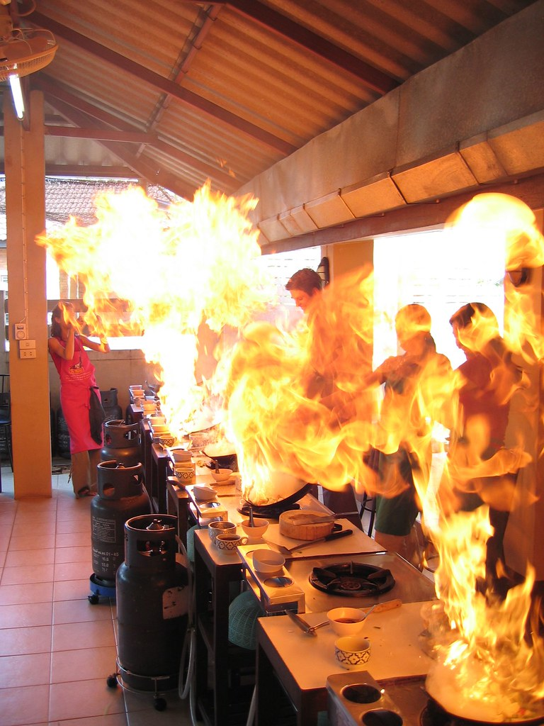 Flame On in Thai Cooking Class