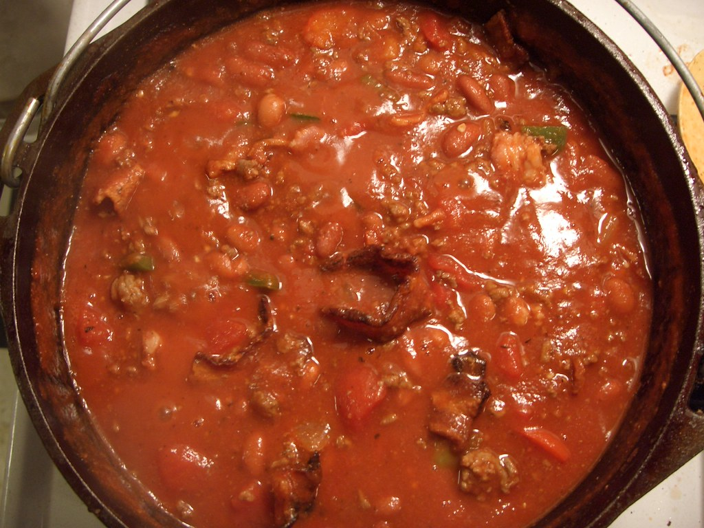 Bacon, Ground Beef, and Bean Chili