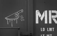 scary (fanceepants) Tags: seattle railroad train writing graffiti tag rail railcar vernacular hobo