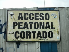 Acceso Peatonal Cortado
