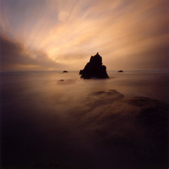 Arcadia Beach, pinhole (Zeb Andrews) Tags: sunset usa seascape color beach topf25 beautiful topv111 oregon 1025fav wow square nice fantastic niceshot superb fv5 pinhole pacificocean 2550fav pacificnorthwest zeroimage interestingness99 i500 bluemooncamera zebandrews zebandrewsphotography