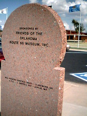 Route  66 Museum Clinton, Ok - Monument