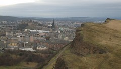 Holyrood Park by icelight