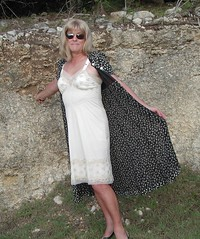Outdoor slip (juli9311) Tags: lace full crossdresser petticoat slips