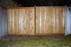 January 27, 2006: Fixed! (Matt McGee) Tags: wood fence damage m2 1365 flickrday january272006