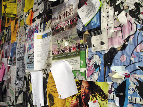 Wall of flyers by mirsasha, on Flickr