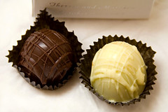 Chocolates (Heather Leah Kennedy) Tags: food white dark dessert chocolate chocolates truffles