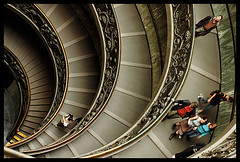 working one's way down (sam b-r) Tags: people stairs spiral walk descend vaticanmuseum spiralstaircase vaticancity s45045913 sambrimages