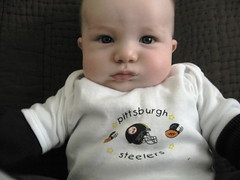 gosteelers (lisabagg) Tags: baby superbowl finn steelers gosteelers superbowlsunday stillers babysteelers