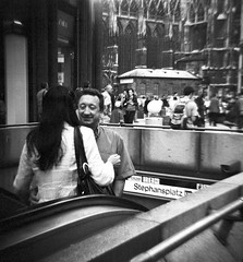 subway flirt (elfis gallery) Tags: vienna wien street people blackandwhite bw woman white 3 man black love film home monochrome publicspace analog mediumformat subway square grey austria sterreich holga cool flirt outdoor toycamera lofi streetphotography bodylanguage relationship squareformat sw athome medium gesture schwarzweiss weiss schwarz myfavs mycity gestures lowfi inpublic 5favs scharzweiss graustufen schwarzundweiss top20holga bilderfantasien decicivemoment peopleoutdoor top20vienna todolist1 plasticdivine analoque