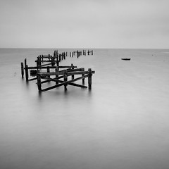 pier remains (Adam Clutterbuck) Tags: uk longexposure greatbritain blackandwhite bw white seascape black monochrome square landscape mono blackwhite mood 300d forsale bn minimal elements slowshutter gb blogged bandw simple sq swanage limitededition canoneos300d slowshutterspeed distilled simplified greengage 1in10f300v accepted1of100bw been1of100bw adamclutterbuck sqbw bwsq showinrecentset limitededition195 midedition le195