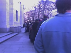 Queue at Indian High Commission